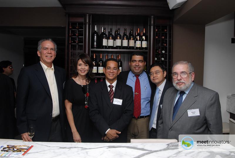 (l-r) Marcos Troncoso, Gerty Valerio, Jose Rafael Vargas, Claudio Peguero, Mite Nishio, Alvaro Nadal