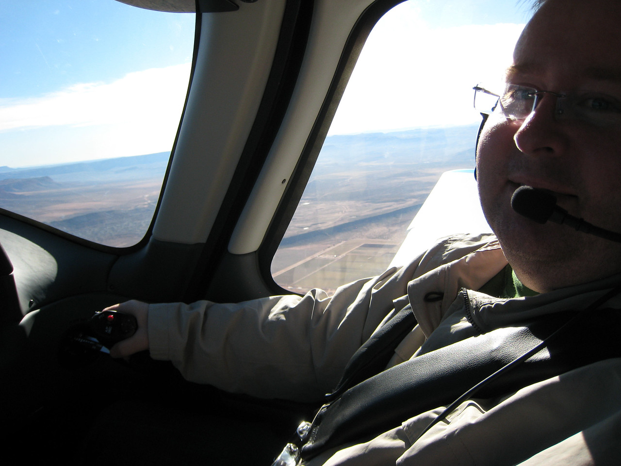 Believe it or not, I was actually piloting this plane - don't think I had any clue what I was doing!