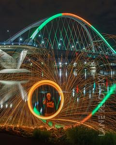 Make Music Day - Lowry Ave Bridge Spinning Wool