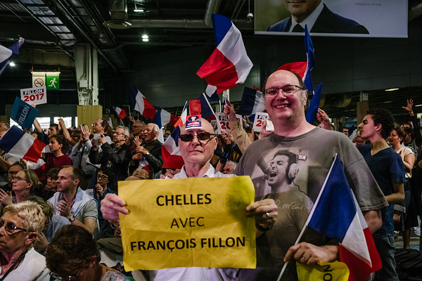 Grand meeting de François Fillon - Paris le 9 avril  2017 - Porte de Versailles