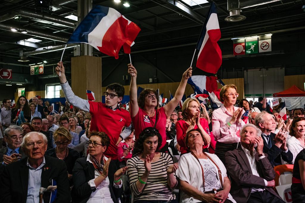 Grand meeting de François Fillon - Paris le 9 avril  2017 - Porte de Versailles
