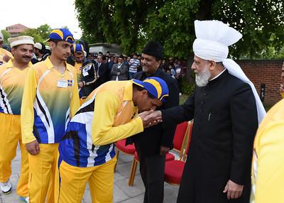 International Masroor Cricket individuals meet Huzur- Part2_ (58 of 63)