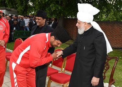 International Masroor Cricket individuals meet Huzur- Part2_ (27 of 63)