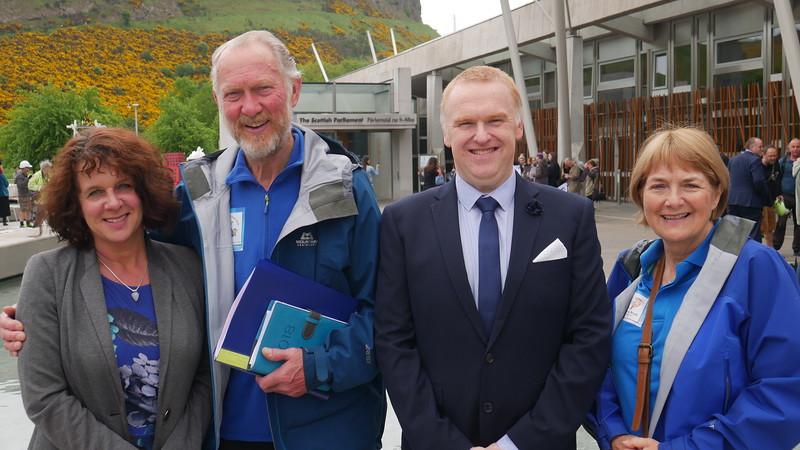 Outside Scottish Parliment