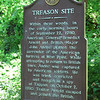 Historical marker found along the railtrail about .1 mile south of the parking area. The rough path to the shore begins about 50 feet north of the sign.
