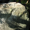 "The engraved boulder:  ""Andre the spy landed here Sept. 21, 1780."""