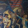 Photo of the mural. Note Arnold conspiring with Andre at lower left as Washington on horseback greets Lafayette