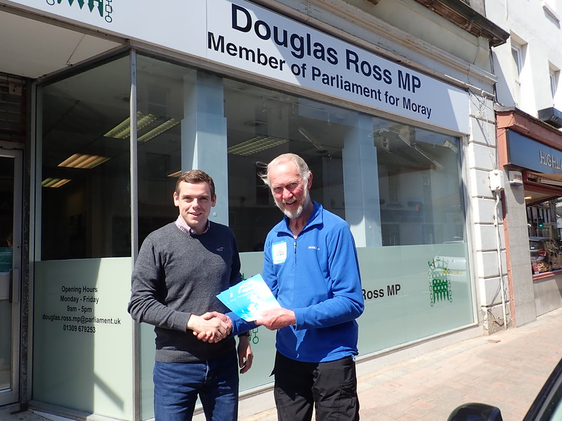 Douglas ross MP in Forres