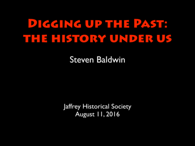 Digging up the Past -- The History Beneath Us