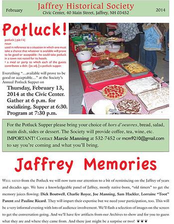 2104 Potluck: Jaffrey Memories