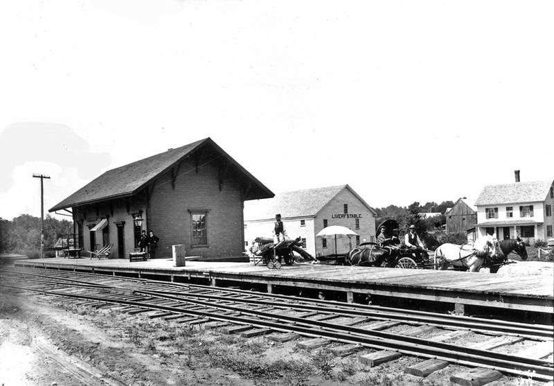 Date: 1890. East Jaffrey Railroad Station.