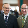 Dr. Harvey Fineberg, president, Institute of Medicine, with Scott Becker, executive director, APHL