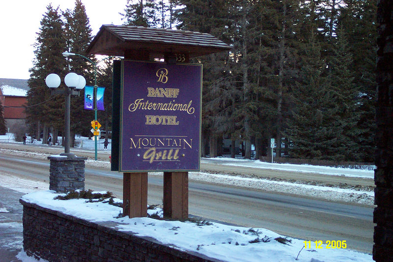 Lodging on 10 & 11 Dec.  A nice breakfast buffet.  The hotel is located on the edge of the Banff business district near the liquor store and Safeway.