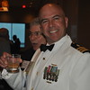Newly promoted CAPT Walt Dalitsch enjoys the reception.
