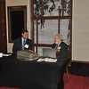 Progra Chair, Barry Shender (right) and Rob Monberg discuss the meeting