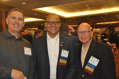 Brian Musselman, Eduard Ricaurte, and Jim Webb enjoy the Welcome Reception.
