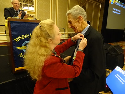 50 year pin presented to Paul Rambaut by Valerie Martindale.