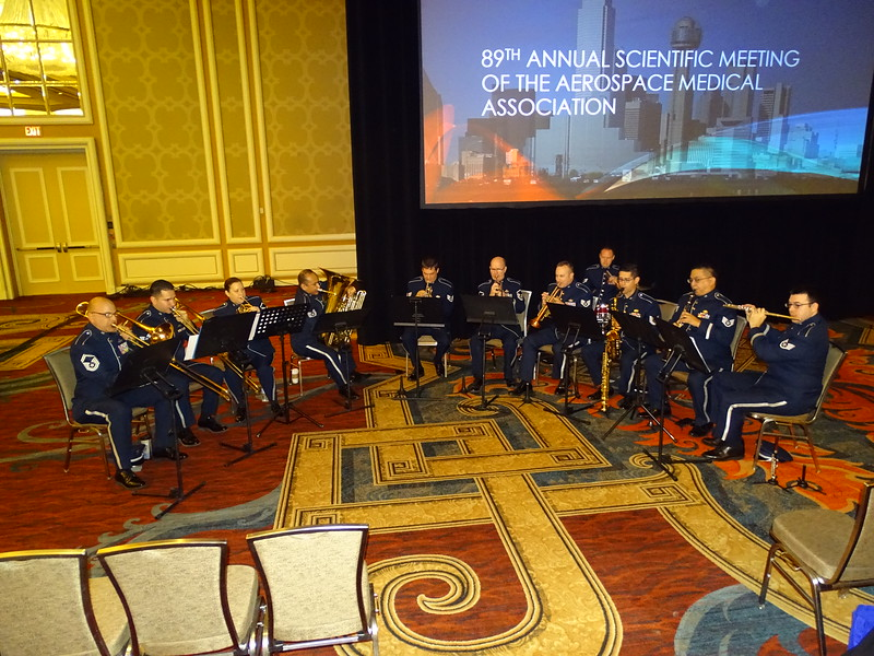 Air National Guard Band of the Southwest – Fort Worth, TX, plays for the Opening Ceremonies.
