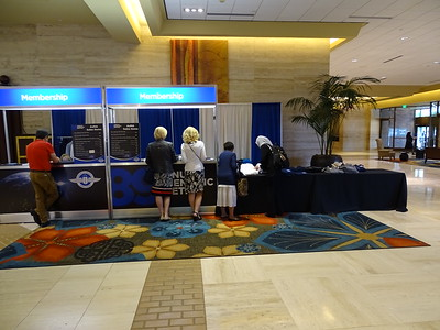 Membership Booth during a lull.