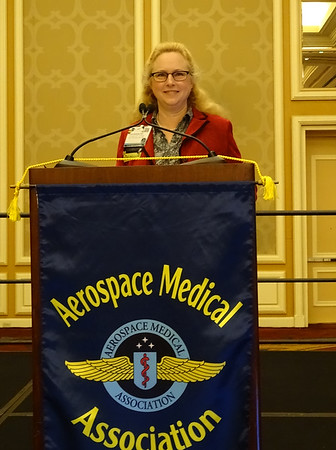 Dr. Valerie Martindale, AsMA President, opens the 89th Annual Scientific Meeting.