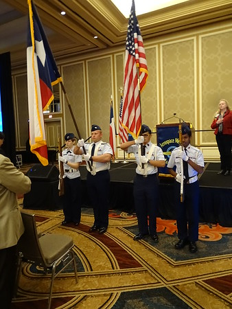 Civil Air Patrol Color Guard – Texoma Composite Squadron, Denison, TX, presents the colors during Opening Ceremonies