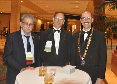 Warren Silberman, Brent Haskell, and Melchor Antunano at the reception.