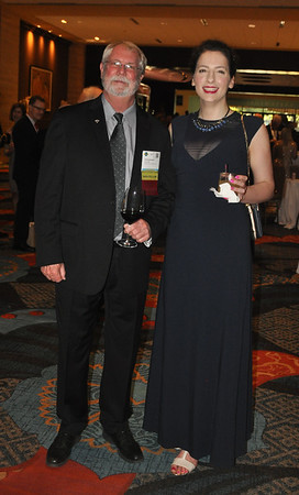 Tom Nesthus and Ilaria Cinelli at the reception.