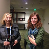 Strainmeter specialists Evelyn Roeloffs (USGS) and Kathleen Hodgkinson (UNAVCO) at the geodesy section reception, hosted by UNAVCO, at AGU 2013.