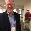 Bob Woodward at the geodesy section reception, hosted by UNAVCO, at AGU 2013.