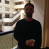 UNAVCO PBO engineer Andre Basset at the geodesy section reception, hosted by UNAVCO, at AGU 2013.
