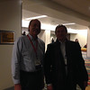 Chuck Meertens and Eric Calais at the geodesy section reception, hosted by UNAVCO, at AGU 2013.