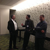Adrian Borsa (middle) and Wade Johnson (right) at the geodesy section reception, hosted by UNAVCO, at AGU 2013.