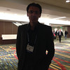 Adrian Borsa at the geodesy section reception, hosted by UNAVCO, at AGU 2013.