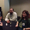 Charlie Sievers and Kathleen Hodgkinson at the geodesy section reception, hosted by UNAVCO, at AGU 2013.