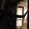 UNAVCO outreach specialist Beth Bartel at the geodesy section reception, hosted by UNAVCO, at AGU 2013.