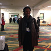 RESESS director Aisha Moriss at the geodesy section reception, hosted by UNAVCO, at AGU 2013.