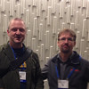 Dave Mencin and Karl Feaux at the geodesy section reception, hosted by UNAVCO, at AGU 2013.