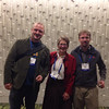 Dave Mencin, Meghan Miller, and Karl Feaux at the geodesy section reception, hosted by UNAVCO, at AGU 2013.