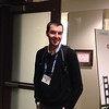 UNAVCO LiDAR program manager Chris Crosby at the geodesy section reception, hosted by UNAVCO, at AGU 2013.