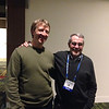 James Foster and David Sandwell at the geodesy section reception, hosted by UNAVCO, at AGU 2013.