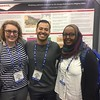 2016 RESESS interns (left to right) Kassidy Ulmer, Jose Silvestre, and Danya Abdel-Hameid pose for a photo in front of Jose's poster at the 2016 AGU fall meeting. (Photo/Aisha Morris, UNAVCO)
