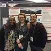 2016 RESESS interns (left to right) Danya Abdel-Hameid, Kassidy Ulmer, and Jose Silvestre pose for a photo in fron of Kassidy's poster at the 2016 AGU meeting. (Photo/Aisha Morris, UNAVCO)