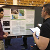 "2015 RESESS intern Enrique Chon presents his poster on ""Spatial and Temporal Analysis of Soil Moisture Observations from the Russian River Basin"" at the 2016 meeting of the American Meteorological Society. (Photo/Valerie Sloan, UCAR)"