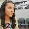SENTINEL&ENTERPRISE/Ashley Green --Gabriela Upson, a freshman at Fitchburg High, was among the newly appointed members of Mayor Lisa Wong's new Youth Commission. The students were welcomed at the City Council meeting on Tuesday evening.