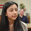 SENTINEL&ENTERPRISE/Ashley Green --Sophia Goncalves, a freshman at Fitchburg High, was among the newly appointed members of Mayor Lisa Wong's new Youth Commission. The students were welcomed at the City Council meeting on Tuesday evening.
