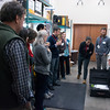 Module authors learn about terrestrial laser scanning services at UNAVCO with Beth Pratt-Sitaula (UNAVCO) on a tour of the UNAVCO facility during the 2018 GEodesy Tools for Societal Issues (GETSI) Materials Development Workshop.  Boulder, Colorado.  February 9, 2018.  (Photo/Daniel Zietlow, UNAVCO)