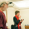 Stuart Birnbaum (SERC and UT San Antonio) and Ellen Iverson (SERC) during the 2018 GEodesy Tools for Societal Issues (GETSI) Materials Development Workshop.  Boulder, Colorado.  February 9, 2018.  (Photo/Daniel Zietlow, UNAVCO)