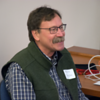 UNAVCO community member and lecturer at Indiana University Bruce Douglas at the 2018 GEodesy Tools for Societal Issues (GETSI) Materials Development Workshop.  Boulder, Colorado.  February 9, 2018.  (Photo/Daniel Zietlow, UNAVCO)
