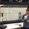 UNAVCO strainmeter engineer Elizabeth Van Boskirk presenting UNAVCO data engineer Kathleen Hodgkinson's poster at the 2014 annual GSA meeting in Vancouver, B.C. (Photo/Aisha Morris)