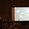 UNAVCO Outreach Specialist Beth Bartel co-presents on a framework for developing programs for education, outreach, and capacity building for a Subduction Zone 4D initiative at SSA 2017. (Photo/Wendy Bohon, IRIS)